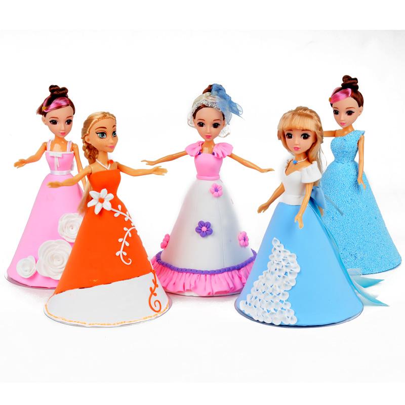diy手工坊材料-彩泥-时尚芭比娃娃(款式随机)